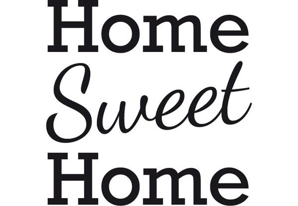 Wandtattoos Home Sweet Home 2 einzel