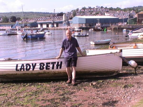 Jim in Teignmouth back beach