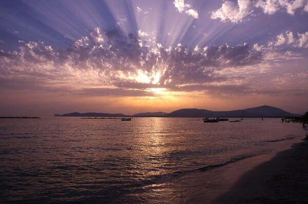 balda sunset sardinia beach