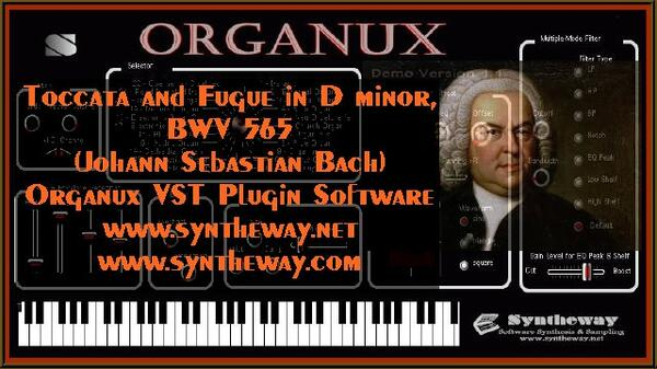 Toccata And Fugue In D Minor Bwv 565 Johann Sebastian Bach Organux Vst Plugin Software