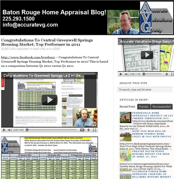 Congratulations To Greenwell Springs La East Baton Rouge Top Housing Performer Q1 2011