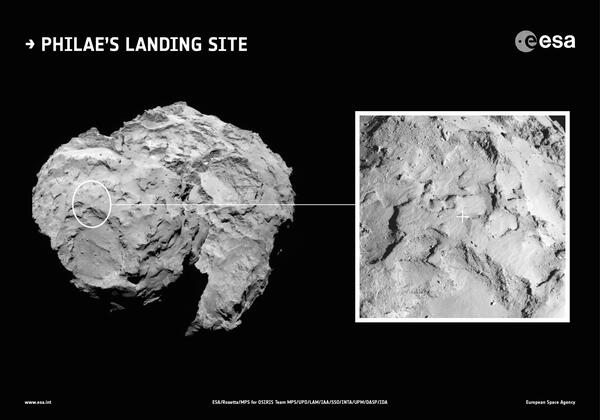Philae s primary landing site in context