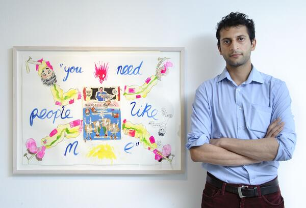 Hardeep Pandhal A Joyous Thing with Maggots at the Centre 2014 portrait Photo Joel Chester Fildes