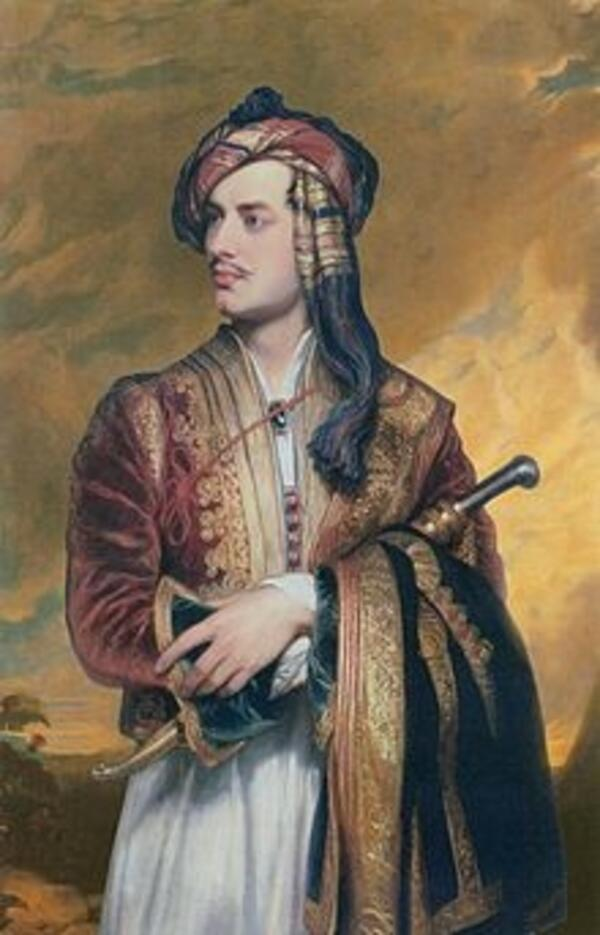 Byron in Albanian dress