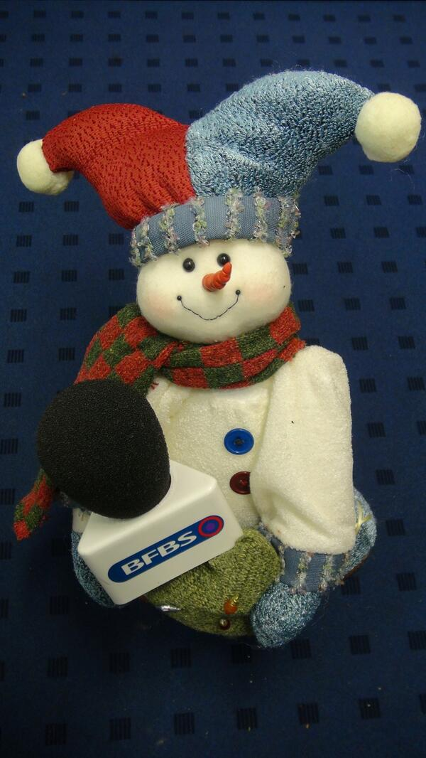 BFBS SNOWMAN WITH MIC