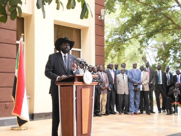 Salva Kiir speaks on Abyei Juba 26 May 2011 photo by Charlton Doki
