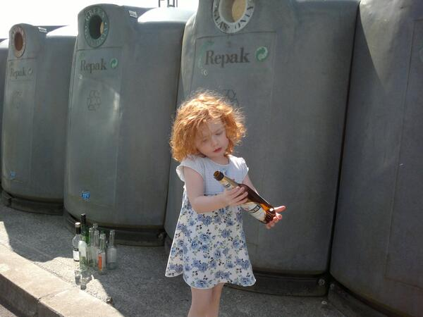 At the Bottle Bank