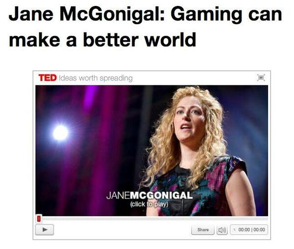 Jane McGonigal Gaming can make a better world TED Academy at Wells Elementary