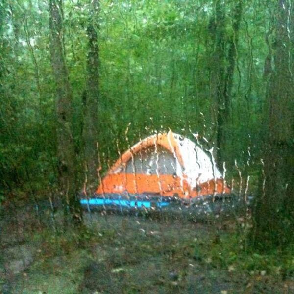 camping rain