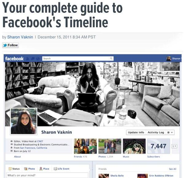 Your complete guide to Facebook s Timeline How To - CNET