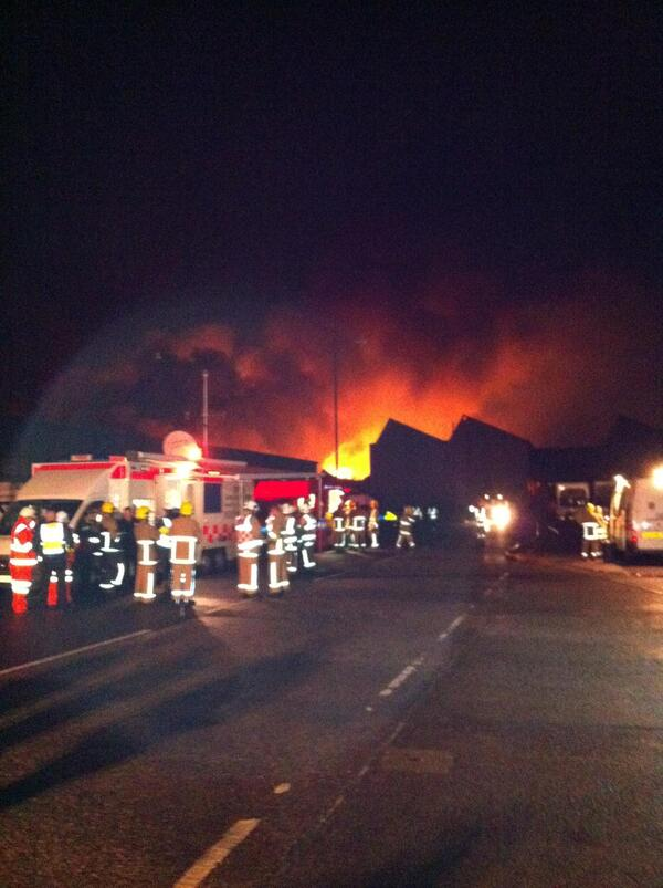 Leyland industrial estate fire