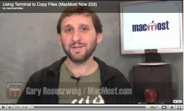 MacMost Now 233 Using Terminal to Copy Files
