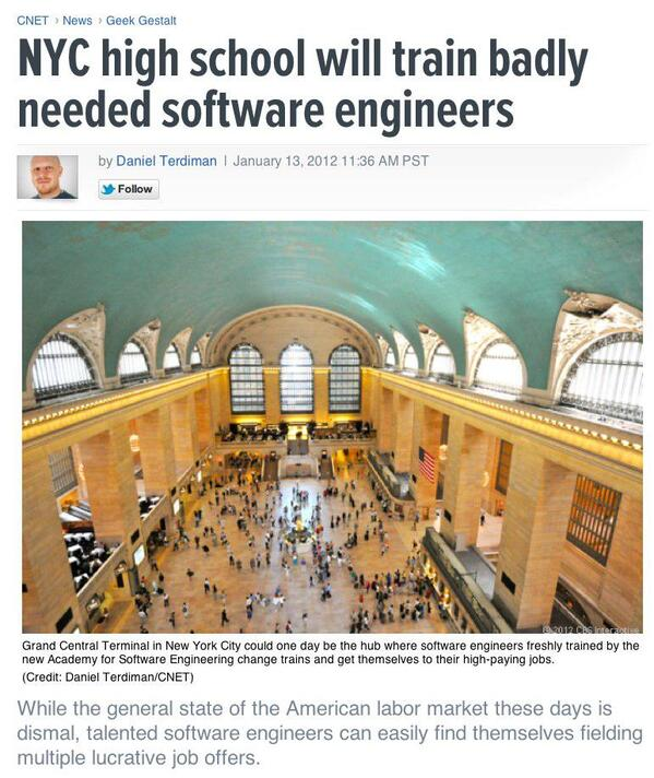 NYC high school will train badly needed software engineers Geek Gestalt - CNET News