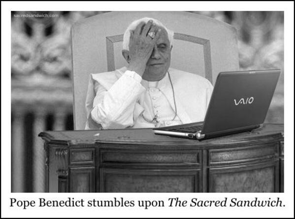 pope face palm