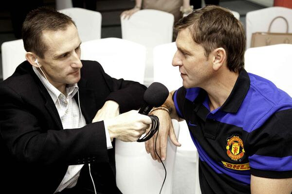 Interviewing ex-Man Utd Leeds Utd and England winger Lee Sharpe 28 Feb 2012