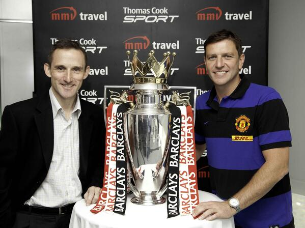 With Lee Sharpe and the Barclay s EPL Trophy 28 February 2012