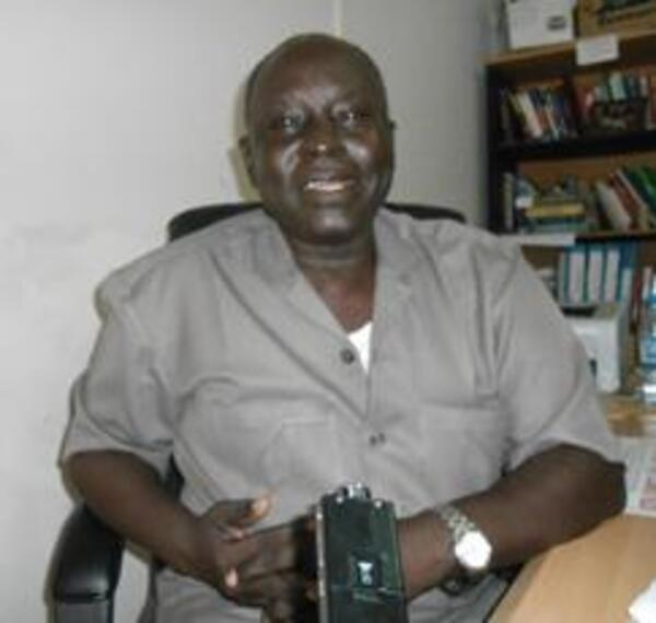 dean of students at Dr. John Garang University of Science and Technology speaking to the Sudan Tribune in his office in Bor June 5 2012 for ST