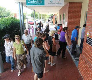 centrelink queue