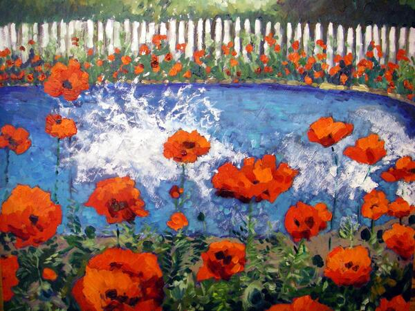splash of poppies