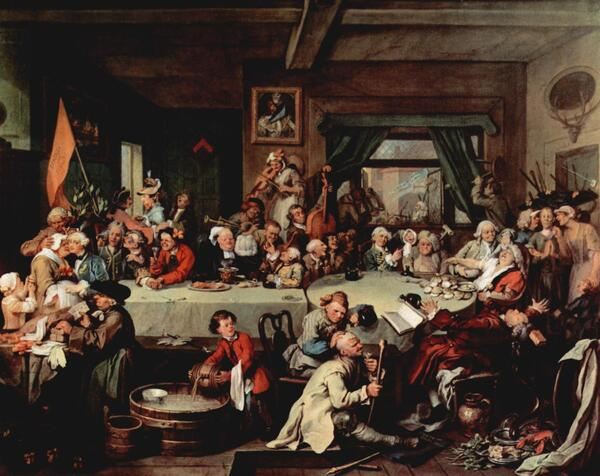 William Hogarth Election entertainment