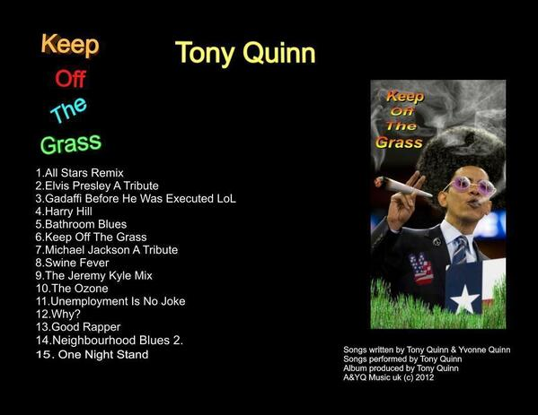 KEEP OFF THE GRASS Album Cover 2012 Edit5 Final Edit 7