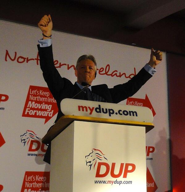 Peter Robinson - arms up