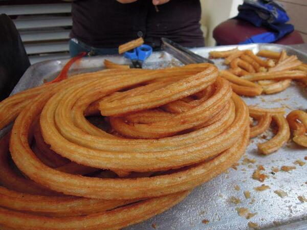 Churros - Street food in Cuba TheCubanFoodBlog