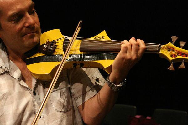 Ian Cooper and his mellow yellow cello