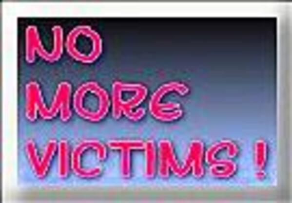 No More Victims Button