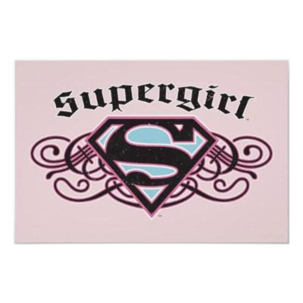 supergirl pin strips black and pink poster-r675863b5e3b04274a7a65f91685d2689 ww7 400