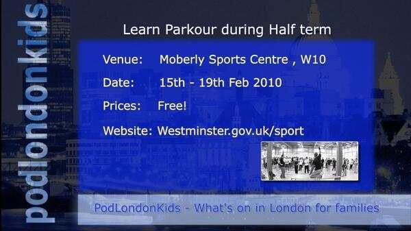Parkour at Moberly Sports Centre Half Term
