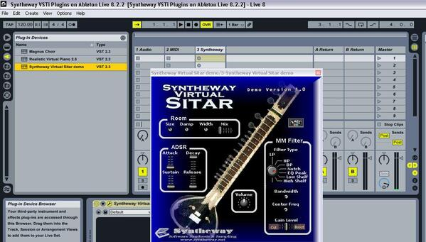 Ableton Live 8 Syntheway Virtual Sitar VSTi