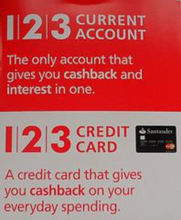 santander 123 current account and credit card