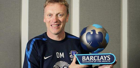 Moyes manager of the month