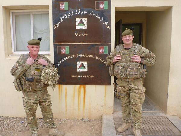 Corporal James Petrie and LCpl Craig Poole