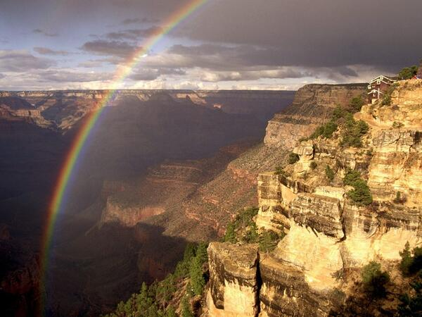 Rainbow Mist Grand Canyon Arizona