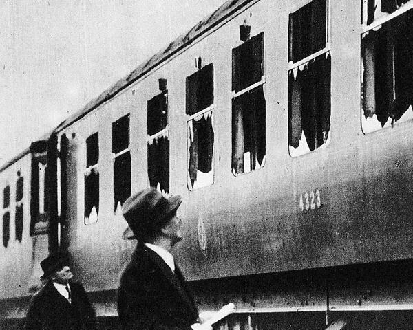 bombed carriage