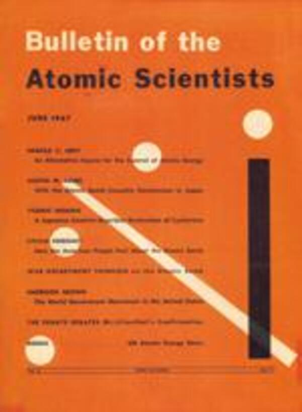 a Bulletin Atomic Scientists Cover