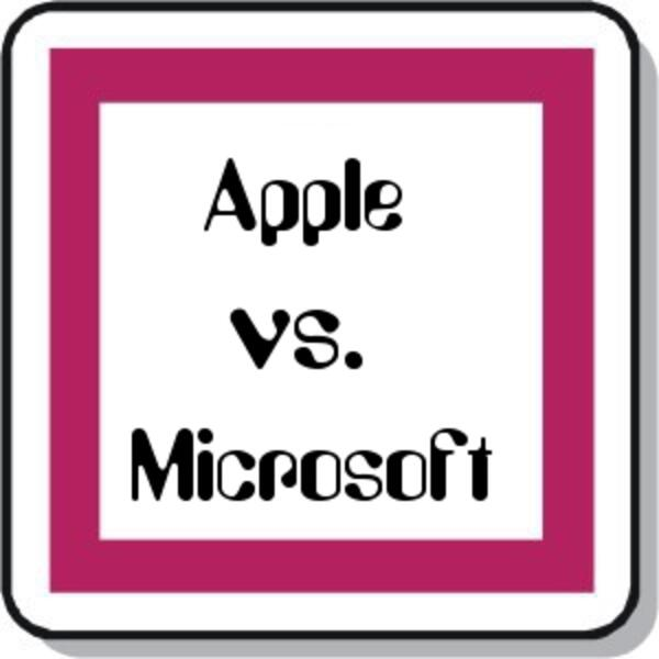 Zeichen Apple Microsoft eckig
