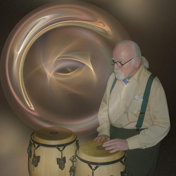dave on congas