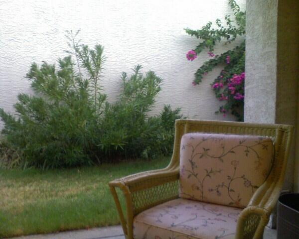 porch in rain