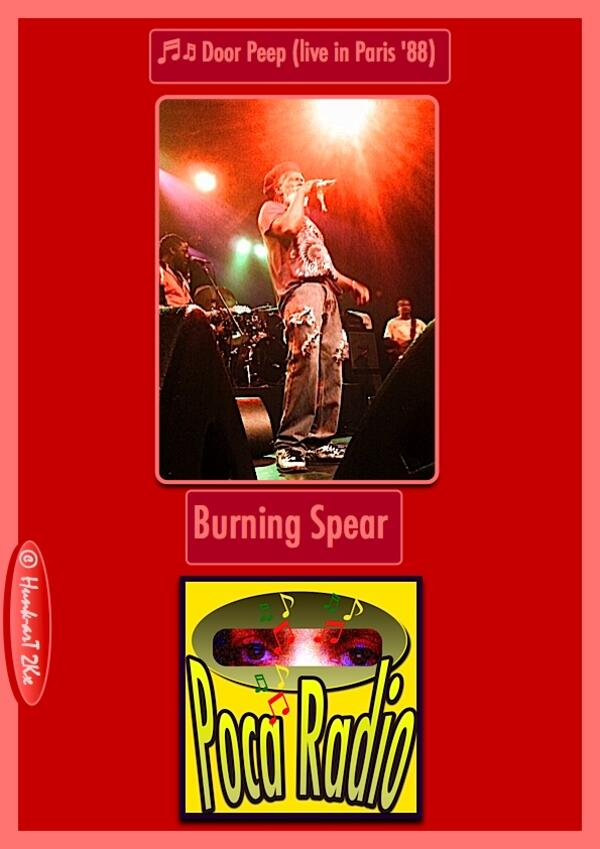 Door Peep live in Paris 88 - Burning Spear