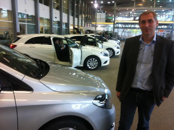 Alfred Lichteblau who commutes from France to Germany daily to work for Mercedes Benz