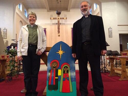 a mj st christophers church rev john kronenburg and curate caroline mullins