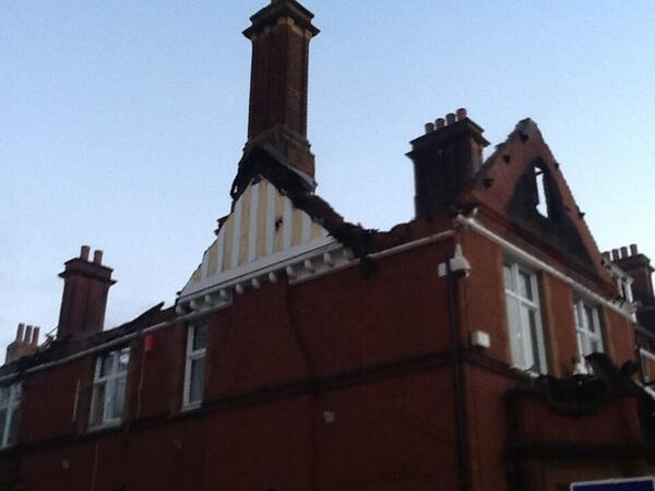 Ewell Court House fire damage