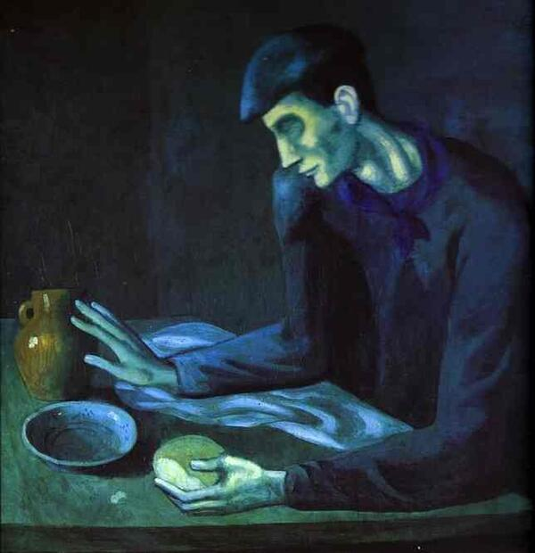 Pablo Picasso-Breakfast of a Blind Man-1903