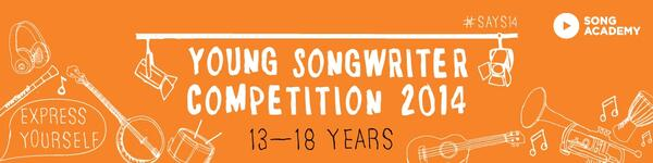 Young Songwriter competition 2014: 13-18 year olds