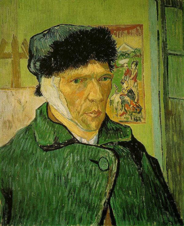 VanGogh-self-portrait-with bandaged ear