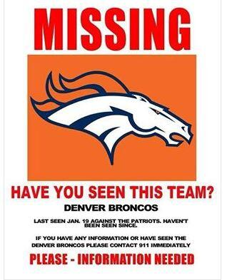 DENVER BRONCOS MISSING