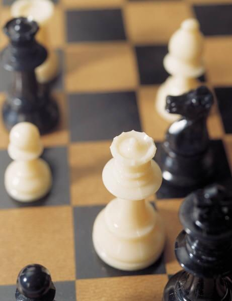 chess board with pieces